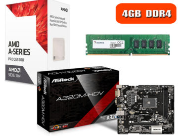 Combo Actualización Amd A10 9700 A320m Am4 Hdmi 4gb Ddr4